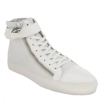 Mens Momentum White Melbourne Cup Hi Trainers