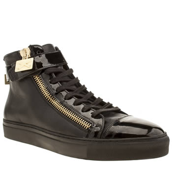 Mens Momentum Black Melbourne Cup Hi Trainers