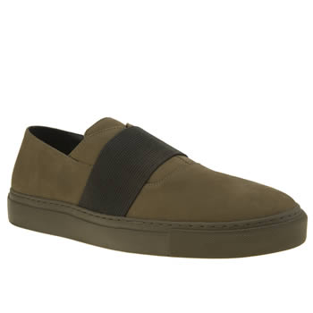 Momentum Khaki Melbourne Slip Mens Shoes