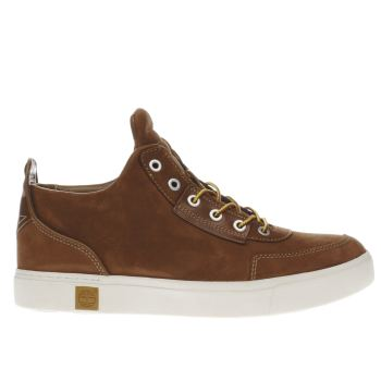 TIMBERLAND BROWN AMHERST HIGH TOP CHUKKA TRAINERS