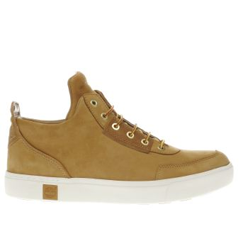 Timberland Tan Amherst High Top Chukka Trainers