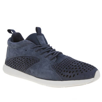 Diamond Supply Co Navy Quest Mid Trainers
