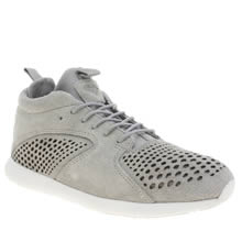 Diamond Supply Co Light Grey Quest Mid Mens Trainers