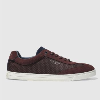 Ted Baker Burgundy Phranco Mens Trainers