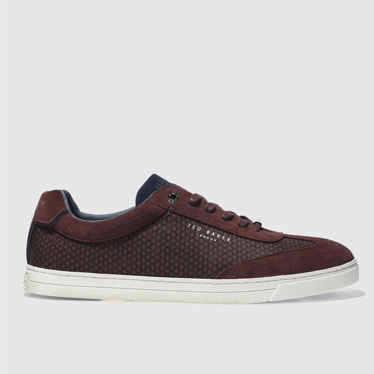 ted baker burgundy phranco trainers