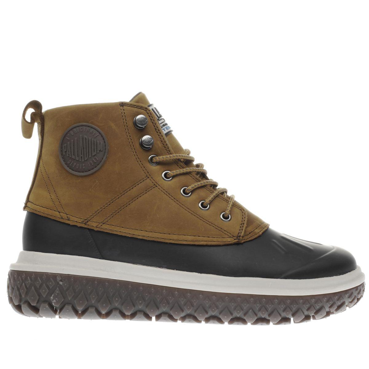 palladium tan crushion scrmbl db l boots
