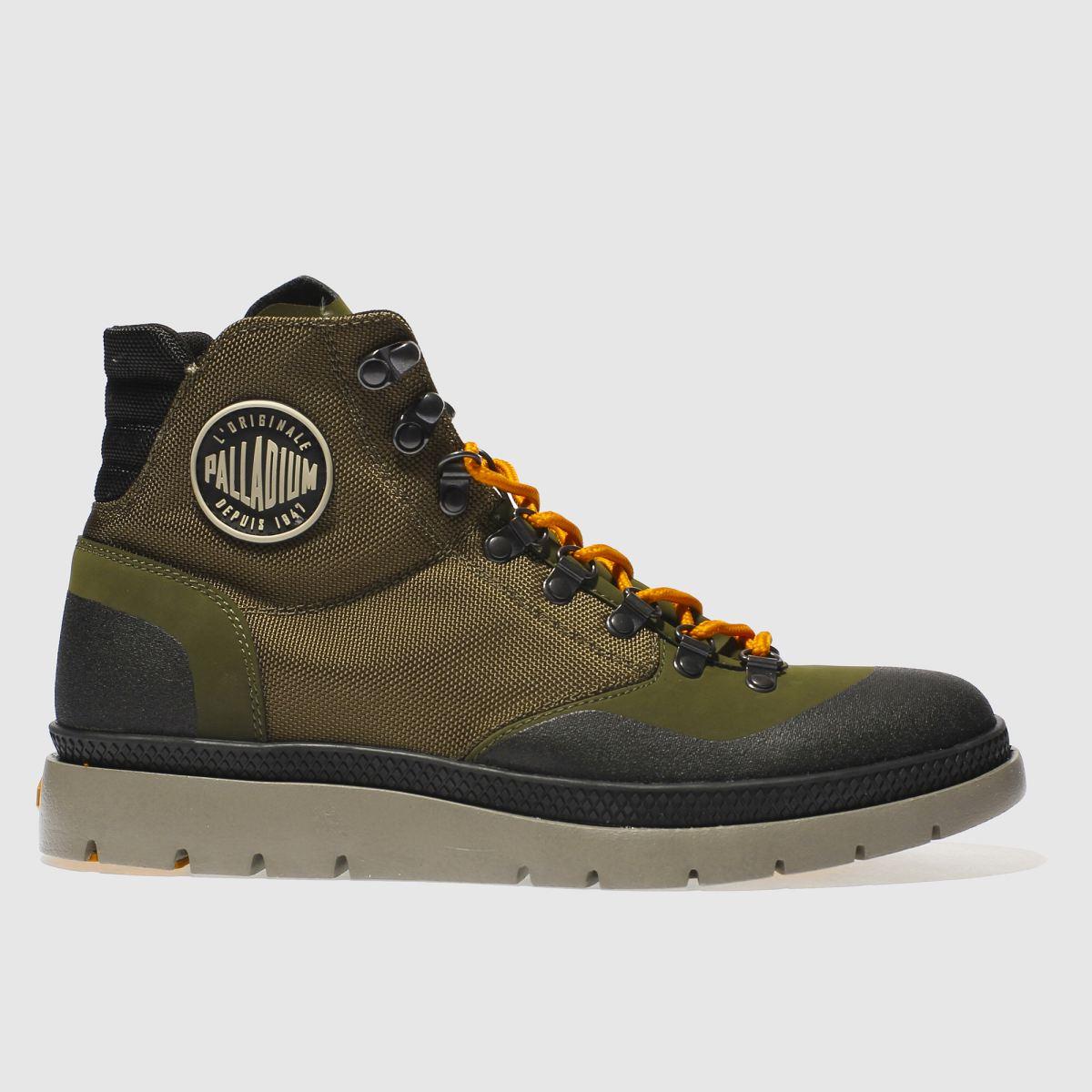 palladium khaki pallasider hiker mid boots