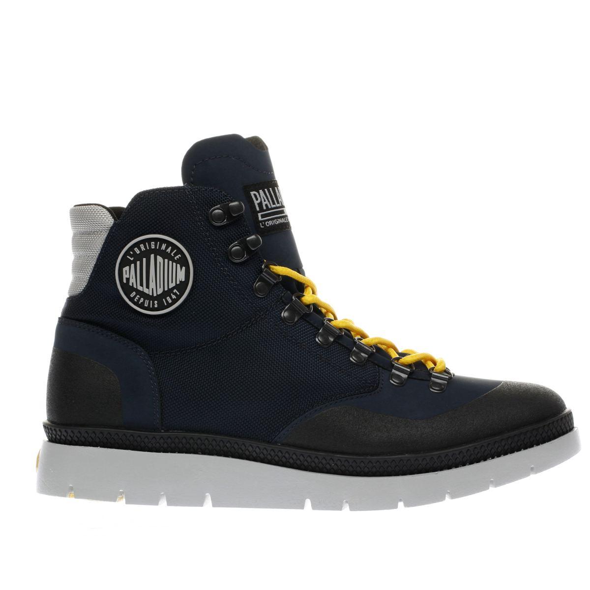 palladium navy pallasider hiker mid boots