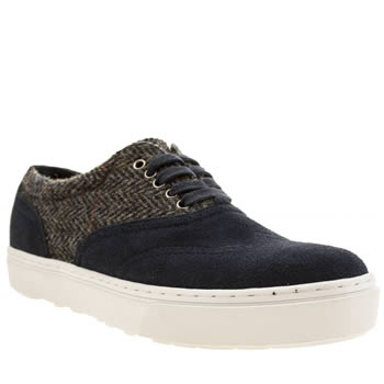 F Troupe Navy Lace Up Trainers