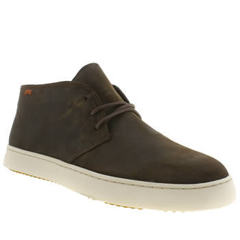 Mens Camper Dark Brown Cglo Trainers