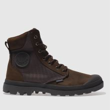 Palladium Dark Brown Pampa Sport Cuff Mens Boots