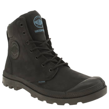 Mens Palladium Black Pampa Hi Cuff Boots