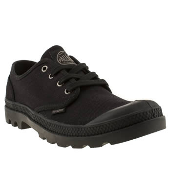 mens palladium black pampa oxford shoes