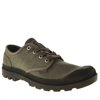 mens palladium grey pampa oxford shoes