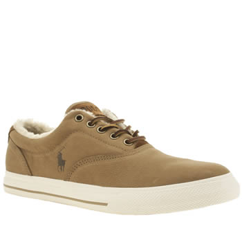 Polo Ralph Lauren Tan Vaughn Shearling Trainers