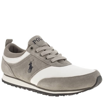 Mens Polo Ralph Lauren Grey Ponteland Trainers