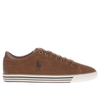 Polo Ralph Lauren Tan Harvey Mens Trainers