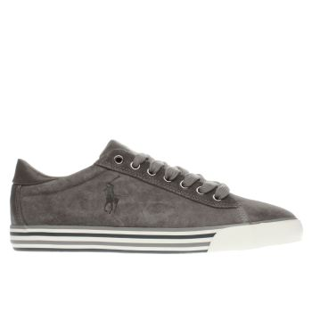 Polo Ralph Lauren Grey Harvey Trainers