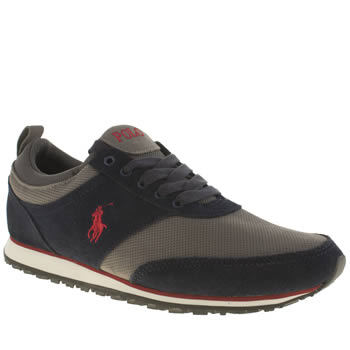 Mens Polo Ralph Lauren Navy & Grey Ponteland Shoes