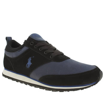 Mens Polo Ralph Lauren Black & Navy Ponteland Shoes