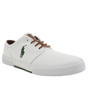 Mens Polo Ralph Lauren White Faxon Shoes