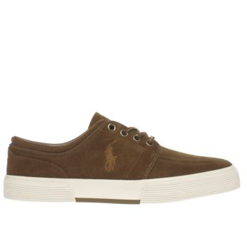 Polo Ralph Lauren Brown Faxon Trainers