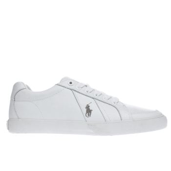 POLO RALPH LAUREN WHITE HUGH TRAINERS