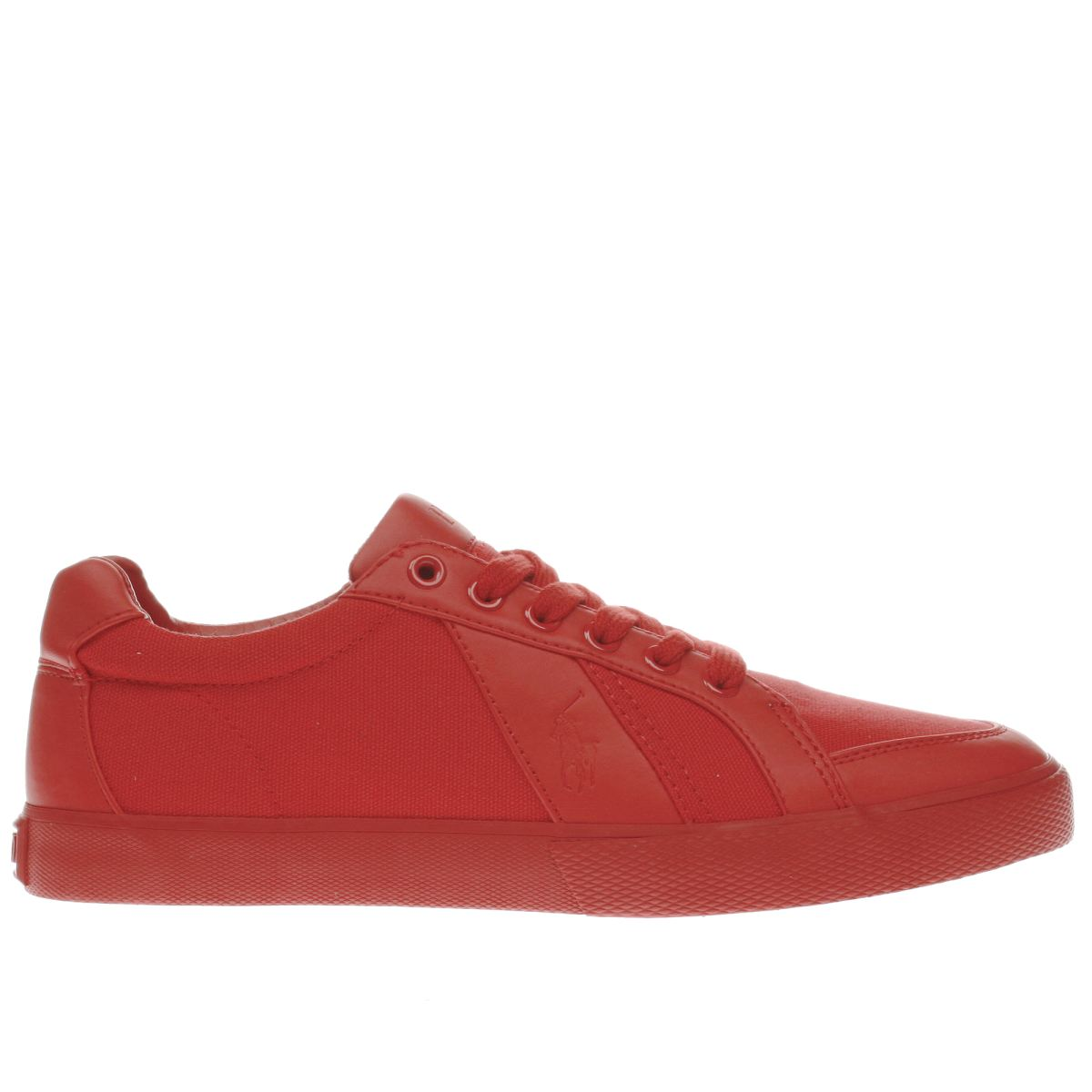 polo ralph lauren red hugh trainers