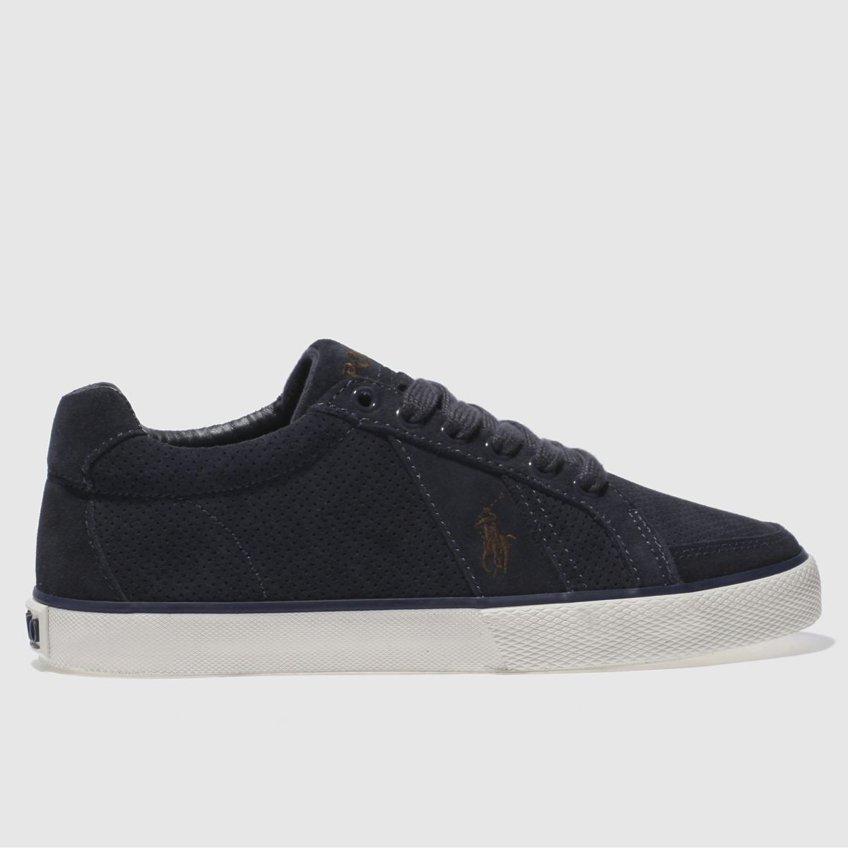polo ralph lauren navy hugh trainers