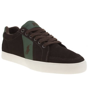 Polo Ralph Lauren Brown Hugh Trainers