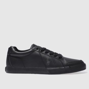 Polo Ralph Lauren Black Hugh Mens Trainers