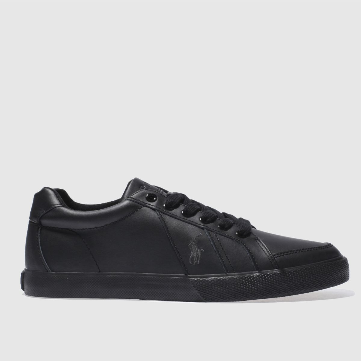 polo ralph lauren black hugh trainers