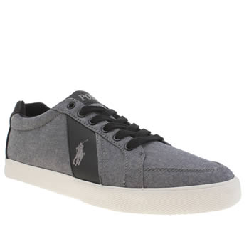 Polo Ralph Lauren Grey Hugh Cv Trainers
