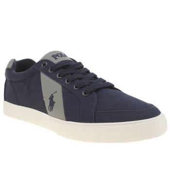 Mens Polo Ralph Lauren Navy & Grey Hugh Shoes