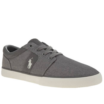 Polo Ralph Lauren Grey Halmore Mens Trainers