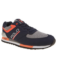 Polo Sport Navy & Orange Slaton Sweatshirt Mens Trainers
