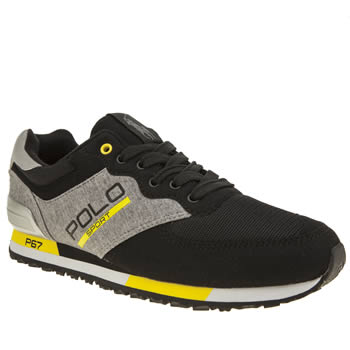 Polo Sport Black & Grey Slaton Sweatshirt Mens Trainers