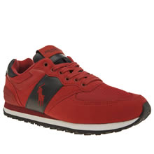 Polo Sport Red Slaton Tech Pony Mens Trainers
