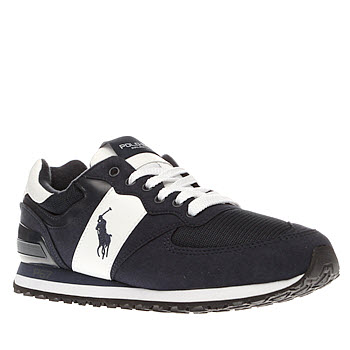 Polo Sport Navy & White Slaton Pony Mens Trainers
