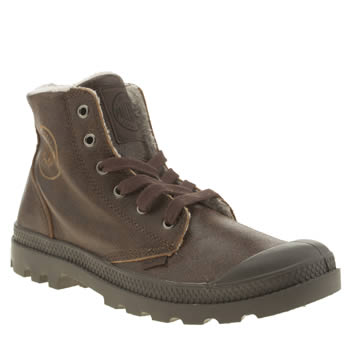Palladium Dark Brown Pampa Hi Leather Boots