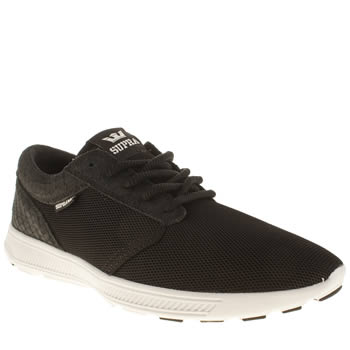 Mens Supra Black & White Hammer Run Trainers
