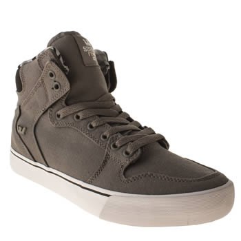 Mens Supra Light Grey Vaider Trainers