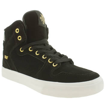 Supra Black & Gold Vaider Trainers