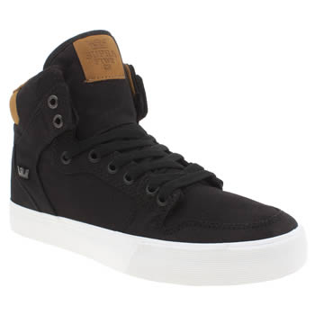 Supra Black Vaider Trainers