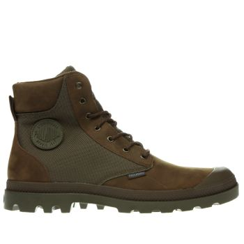 Palladium Brown Pampa Sport Cuff Boots