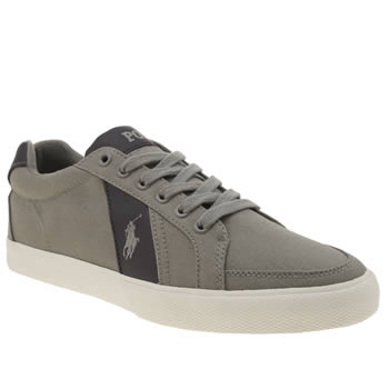 Polo Ralph Lauren Grey Hugh Trainers