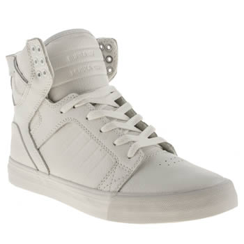 mens supra white skytop trainers