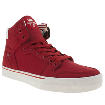 Mens Supra Red Vaider Trainers