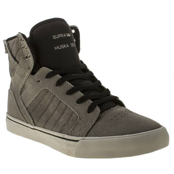 mens supra grey skytop trainers