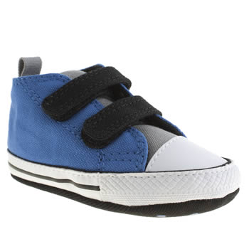 Boys Converse Blue First Star 2 Velcro Crib Boys Baby